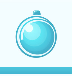 chistmas card with glossy ball vector image vector image