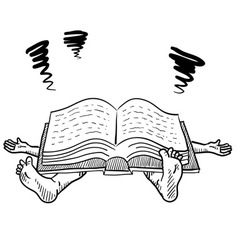 doodle squish book study vector image vector image