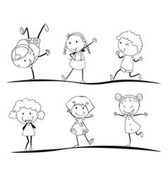 kids activity vector image