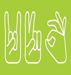 ruke jednostavne4 resize vector image