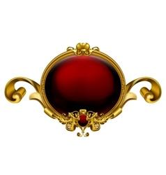 Vintage frame red vector image vector image
