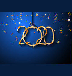 2020 happy new year background for your seasonal vector image