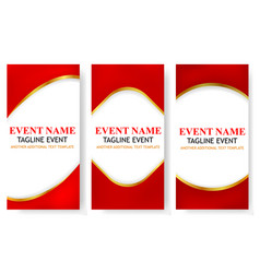 3 variant vertical template triangle gold red vector