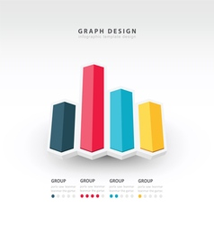 3d arrow infographics vector
