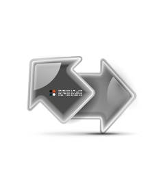 3d glossy arrow technology concept vector image
