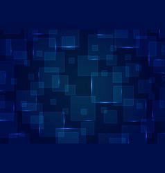 Abstract blue square pattern design futuristic vector