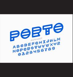 Abstract modern font vector
