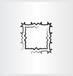Abstract square black frame background vector