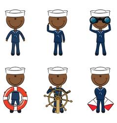African-American seamen vector image