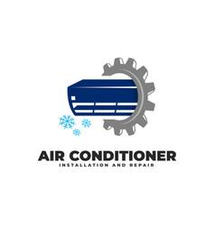 Air conditioner installation repair service vector