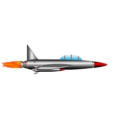 air fighter on white vector image