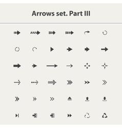 arrow icon setpart iii vector image
