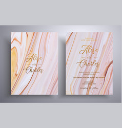 Beautiful set wedding invitations with stone vector