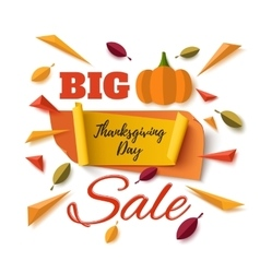 Big Thanksgiving Day sale abstract banner vector image vector image