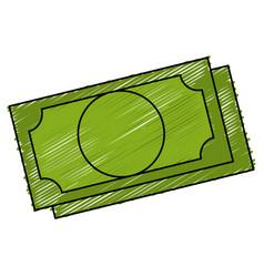Bill dollar isolated icon vector
