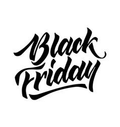 black friday lettering hand drawn ink brush vector image