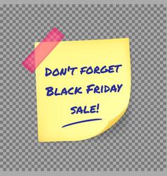 Black friday reminder sticker vector
