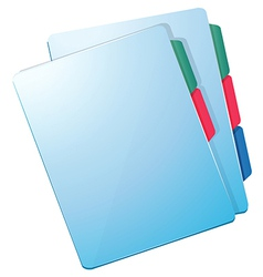 Blue nurse files vector