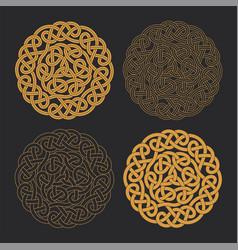 celtic circle cross ethnic ornament vector image