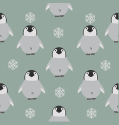 chick penguin pattern vector image