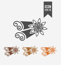 cinnamon isolated black icon vector image