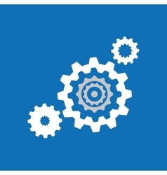 Collection gear cooperation team design blue vector