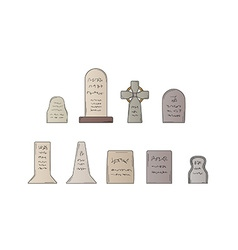 Collection of the graves vector