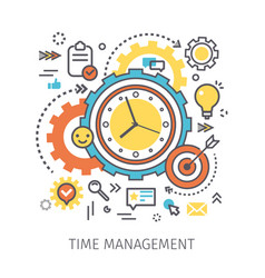concept time management vector image