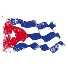 Cuba Flag Grunge vector