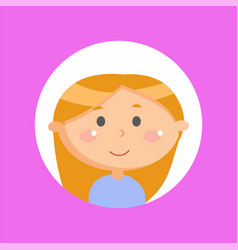 cute girl with long red hair smiling kid child vector image