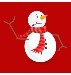 cute little snowmen vector image