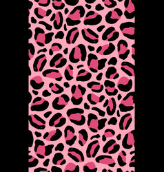 decorative animal seamless pattern with pink vector image