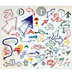 doodle arrows elements vector image vector image