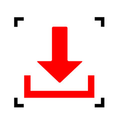 download sign red icon vector image