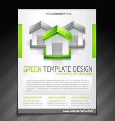 eco green brochure flyer poster template vector image