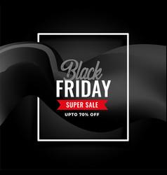 elegant black friday super sale background design vector image