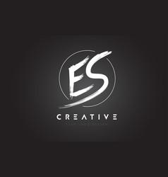 Es brush letter logo design artistic handwritten vector