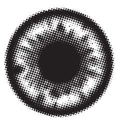 Eye macro vector