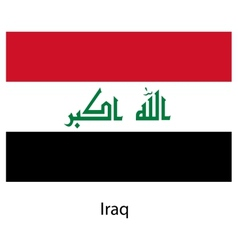 Flag of the country iraq vector image