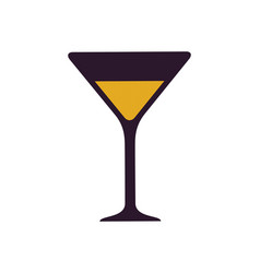 Glass with alcoholic drink vector