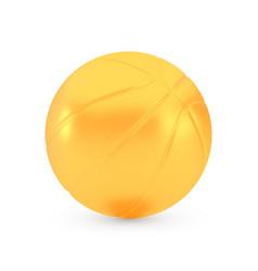 golden basketball award concept shiny realistic vector image