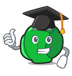 Graduation brussels character cartoon style vector