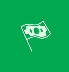 green financial freedom logo icon vector image