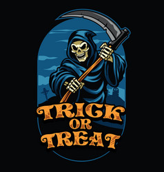 halloween design of grim reaper vector image
