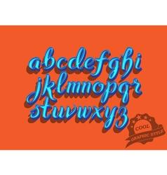 Hand drawn script font vector