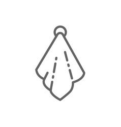 Hand towel line icon vector