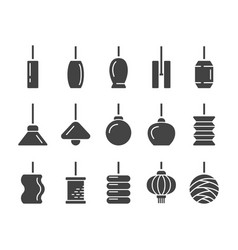 hanging lamp icon vector image