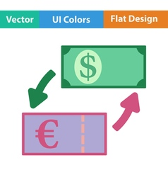 Icon of currency exchange vector image