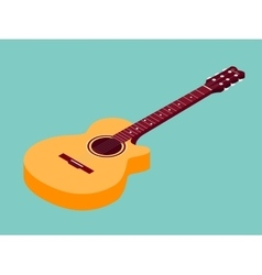 Isometric classical acoustic guitar icon vector