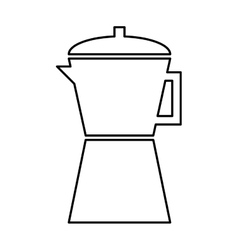 Kettle appliance isolated icon vector
